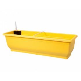 Truhlík samozavlažovací TORENIE 60cm - žlutý