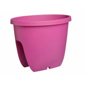 Truhlík BALCONIA na zábradlí plastový fialovo růžový 30cm