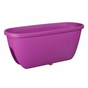 Truhlík BALCONIA na zábradlí plastový fialovo růžový 60cm