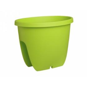 Truhlík BALCONIA na zábradlí plastový zelený 30cm