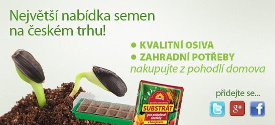 E-zahradnictví Semena-rostliny.cz Vás vítá a nabízí: